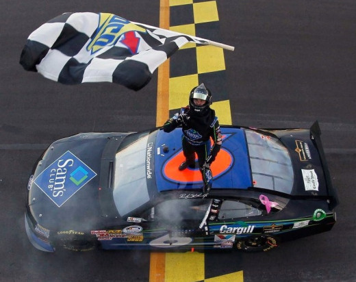 Stenhouse won two back to back Nationwide titles driving essentially the same cars as Pastrana