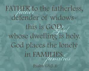 Psalm 68:5-6