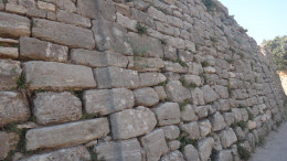 A wall in the ancient city of Troy.