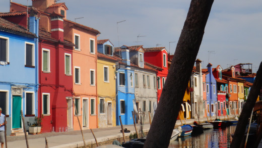 Every house on the entire island is like this! Taken in Burano (near Venice), Italy.