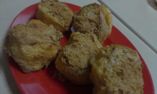 Fried bean curd.