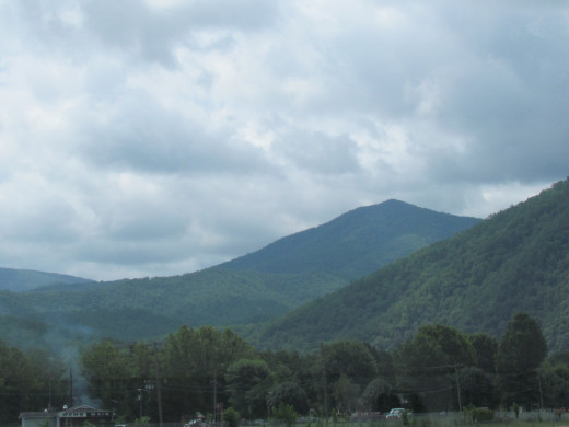 The Smokey Mountains as we travelled through Asheville, North Carolina.