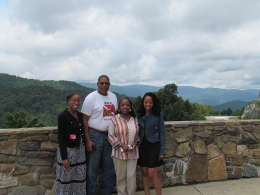 We stopped along the way at the Metcalf Overlook, on the way to Waynesville, NC for a quick photo. The view was spectacular.