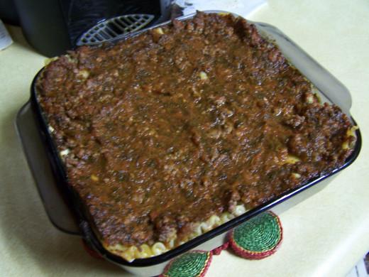 The final laasagna ready to bake.