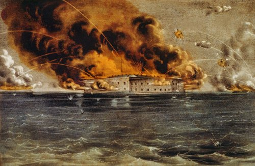 Fires burn out of control in Fort Sumter