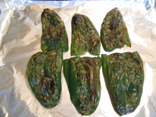 Roast the poblanos under the broiler so the skins are easy to remove.