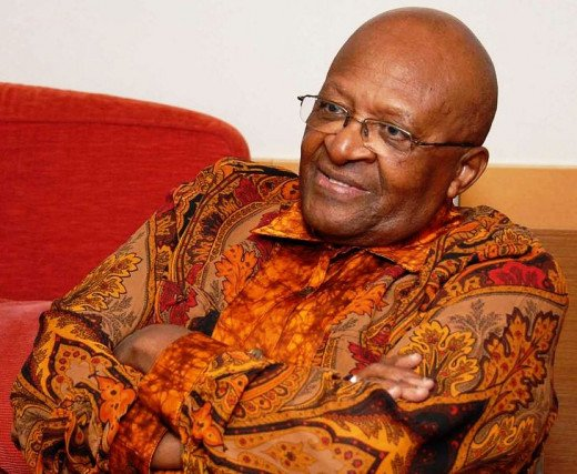 Desmond Mpilo Tutu, retired Anglican bishop @ Wikimedia Commons.