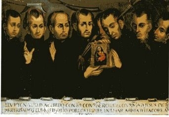 Painting of the Tazacorte Martyrs