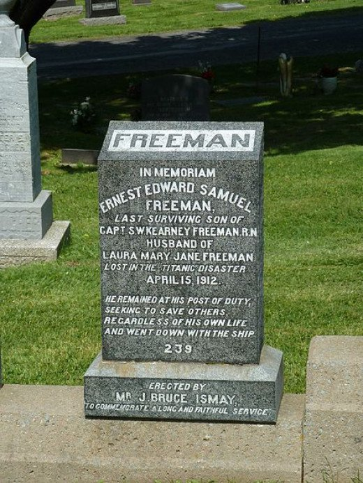 A Gravestone of one of the Titanic victims