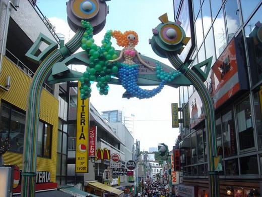 Entrance to Takeshita Street in Harajuku