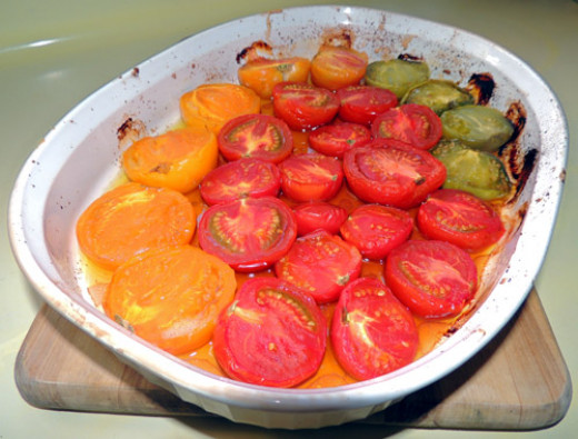 remove tomatoes once cooked