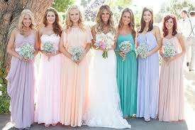 The bridesmaid dresses should compliment the bride.  This one is hard to tell who the bride is.