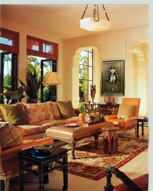 red oriental rug living room how to decorate with rugs hubpages 19988