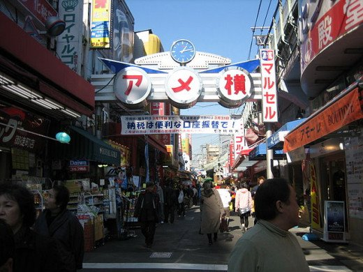 Ameyoko - a popular market street located near Ueno Park