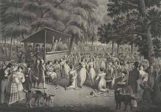 scene was drawn on stone by H. Bidport