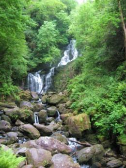 Tumbling waters in the Irish hills