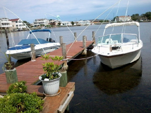 Here is my sister's and my boats 3 days before Sandy hit our Island. CALM BEFORE THE STORM!