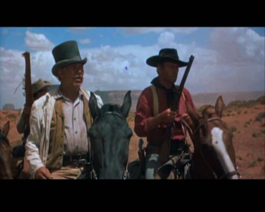 Still of John Wayne taken from The Searchers.