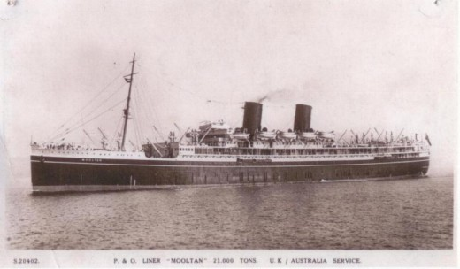 Here is the ship which took me into a new life in a new land as a 'Ten Pound Pom'  (government assisted emmigrant) in 1951