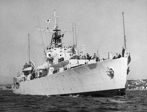 Coverter for oceanographic survey, this old WW2 frigate was my home for a year.