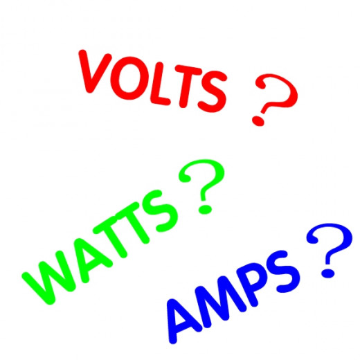 relationship between volts amps and watts