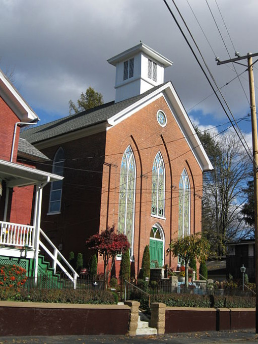 A church in the small town of Delaware Water Gap, PA.