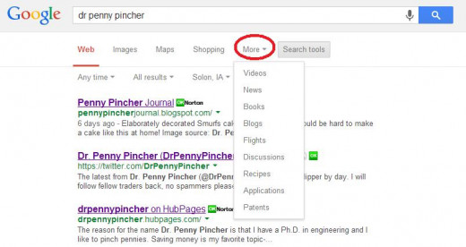 Use Advanced Search Options to Select the Desired Source of Information for Web Search Results