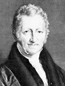 Thomas Malthus, the first to identify the perils of population growth.