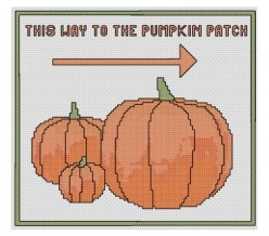 pumpkin patch sign cross stitch
