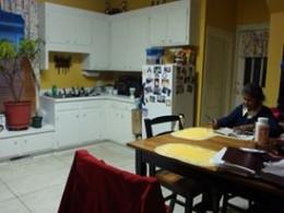 Storage cabinets in the kitchen