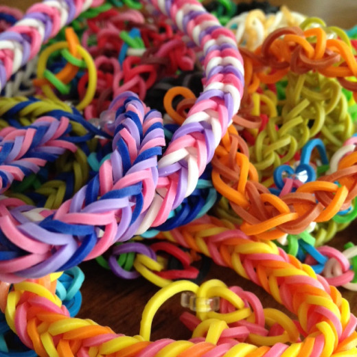 Rainbow Loom single & fishtail bracelets