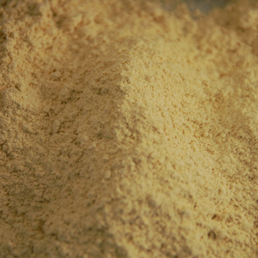 Ground orrisroot looks like this and is available online and at health food stores.