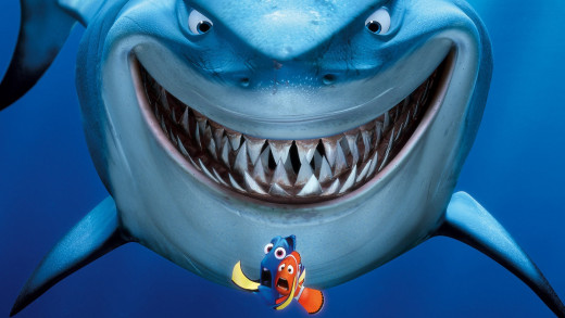 "In Pixar's ""Finding Nemo"" the Great White shark Bruce was named after the mechanical shark used during the filming of ""Jaws""."