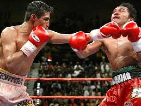 Erik Morales fought Manny Pacquiao three times winning the first bout by decision but losing the other two.