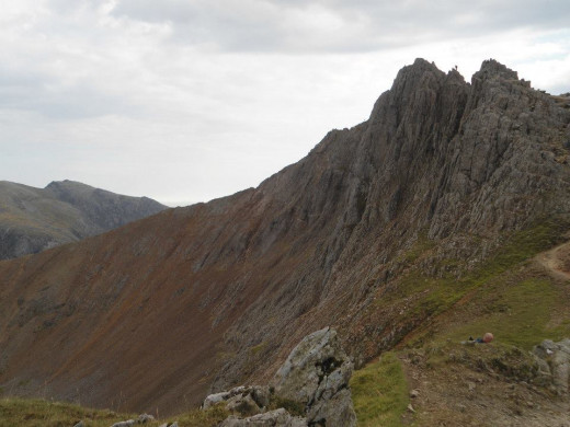 A good view of the ridge