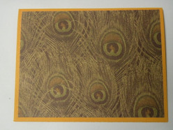 Background cardstock adhered to card