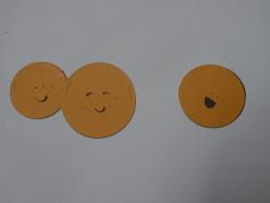 Orange adhered to Burgundy layer