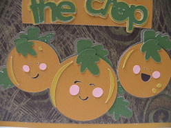 Shadows adhered to pumpkins