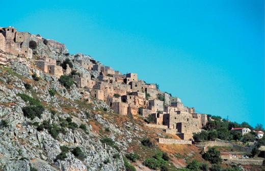 The stone village of Anavatos