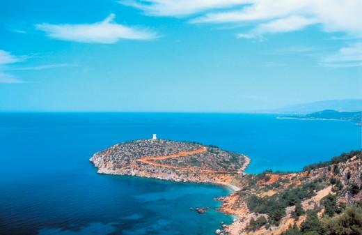 Endless blue of the Aegean sea