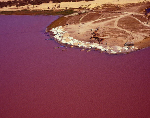 Lake Retba, Senegal, Africa