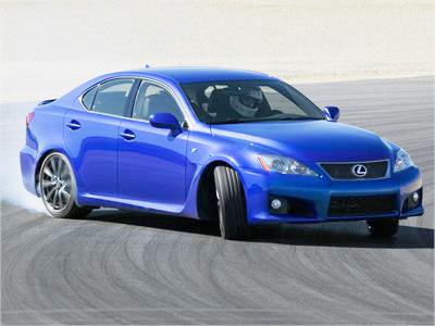 A Lexus IS-F finished in F-Sport Blue
