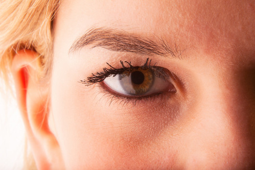 Thick eyebrows are romantic as long as they're tidied up.
