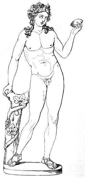 The Greek god Dionysus (or Dionysos)