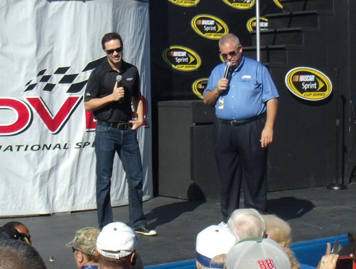 Johnson answers questions from fans at Dover