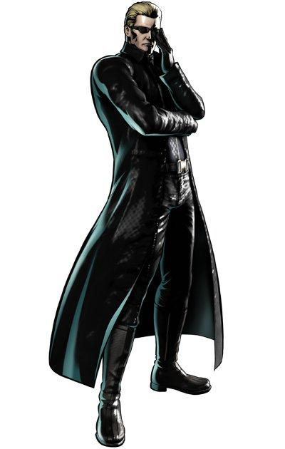 "Wesker in ""Marvel vs. Capcom 3: Fate of Two Worlds."""