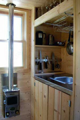 There is even a small kitchen integrated