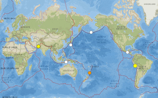 6.3 magnitude earthquake events for September 2013 (USGS/NEIC data).  This search produces all of the earthquakes given in the list below (from a separate source).