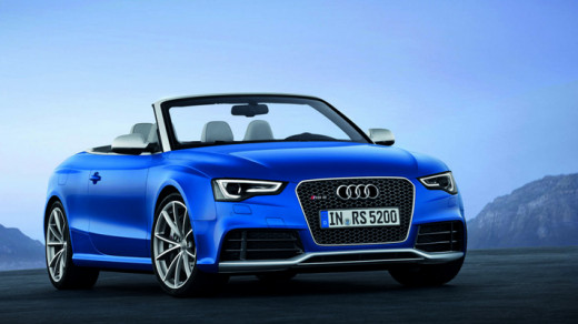 Audi RS5-Cabriolet finished in Pearlascent-Blue