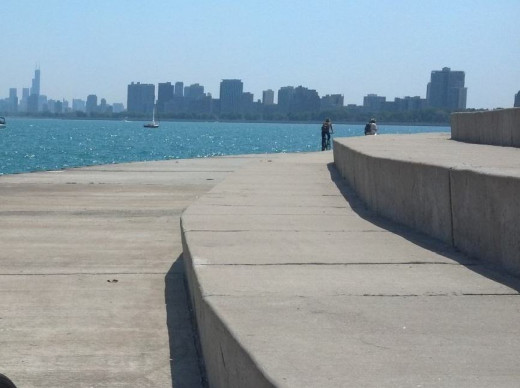 There are miles of bike paths along the lake shore.